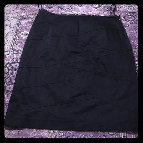 Black Calvin Klein Tight Pencil Skirt This is a unique Calvin Klein skirt with the seam design. It is like that in the back as well. It's been in the back of a few of my closets over the years but now it's time to let it go. Does need a good trip to the dry cleaners. Side zip. Waist is 16 inches. Make an offer or bundle for a great deal (25% off!) Calvin Klein Skirts Pencil
