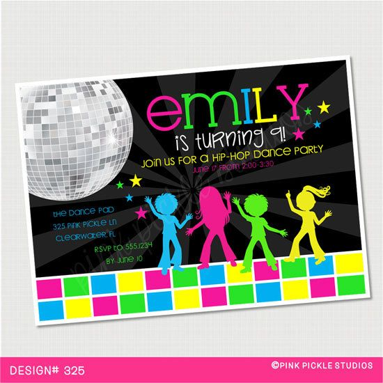 70s 80s 90s Disco Dance Party Invitations – Dance Party Invites
