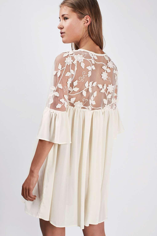 e77308e19647   Babydoll-Kleid mit Spitzeneinsatz von Rare - Kleider - Bekleidung -  Topshop