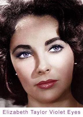 Elizabeth Taylor violet eyes | Amethyst, Purple or Violet ...