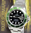 Rolex Submariner 16610 Steel Green Kermit Watch Box/Papers V 16610LV #Rolex #Watch #rolexsubmariner