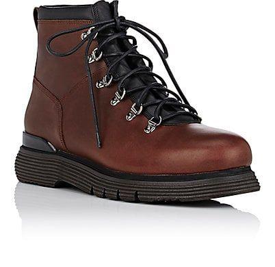 Mens Shearling-Lined Leather Hiking Boots Franceschetti 9usTod5AV