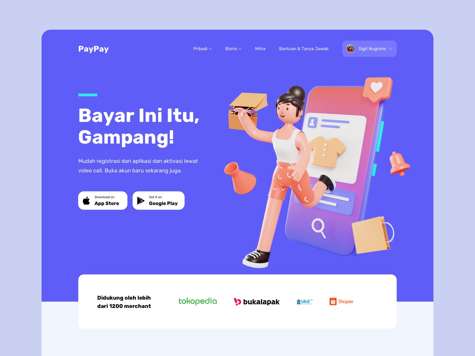 Paypay Digital Wallet Header 3d Concept Web Design Awards Web Development Design Web Design Trends
