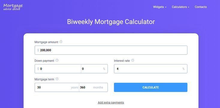 Biweekly mortgage calculator Amortization Calculator