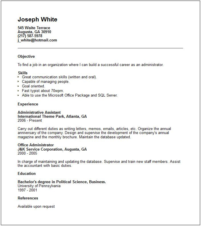 Resume Example Know How Show Your Abilities Potential Writing