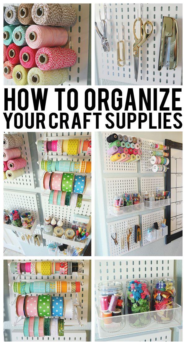 Organization Craft Room Storage Ideas Etc On Pinterest