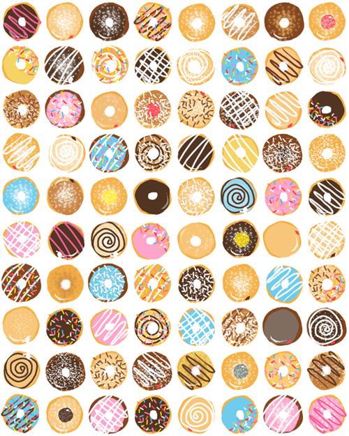 Donuts Background Colorful Donut Kawaiidonuts Kawaii