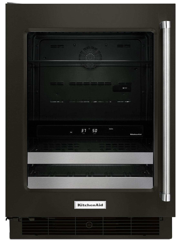 Kitchenaid 24 black stainless steel beverage center