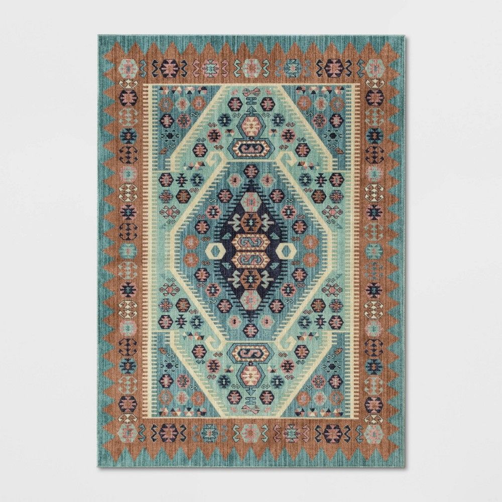 10 X13 Buttercup Diamond Vintage Persian Woven Rug Teal