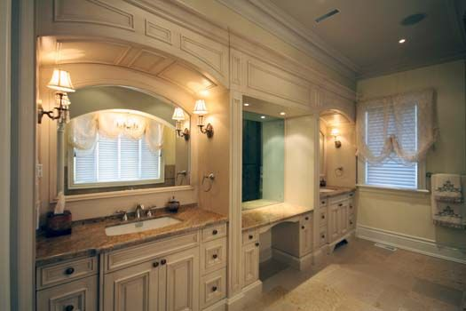 Our Recommendations For Traditional Bathrooms: Custom His And Hers Bathroom.