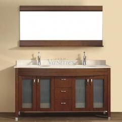 63 Inch Double Sink Bathroom Vanity With Choice Of Top In Classic
