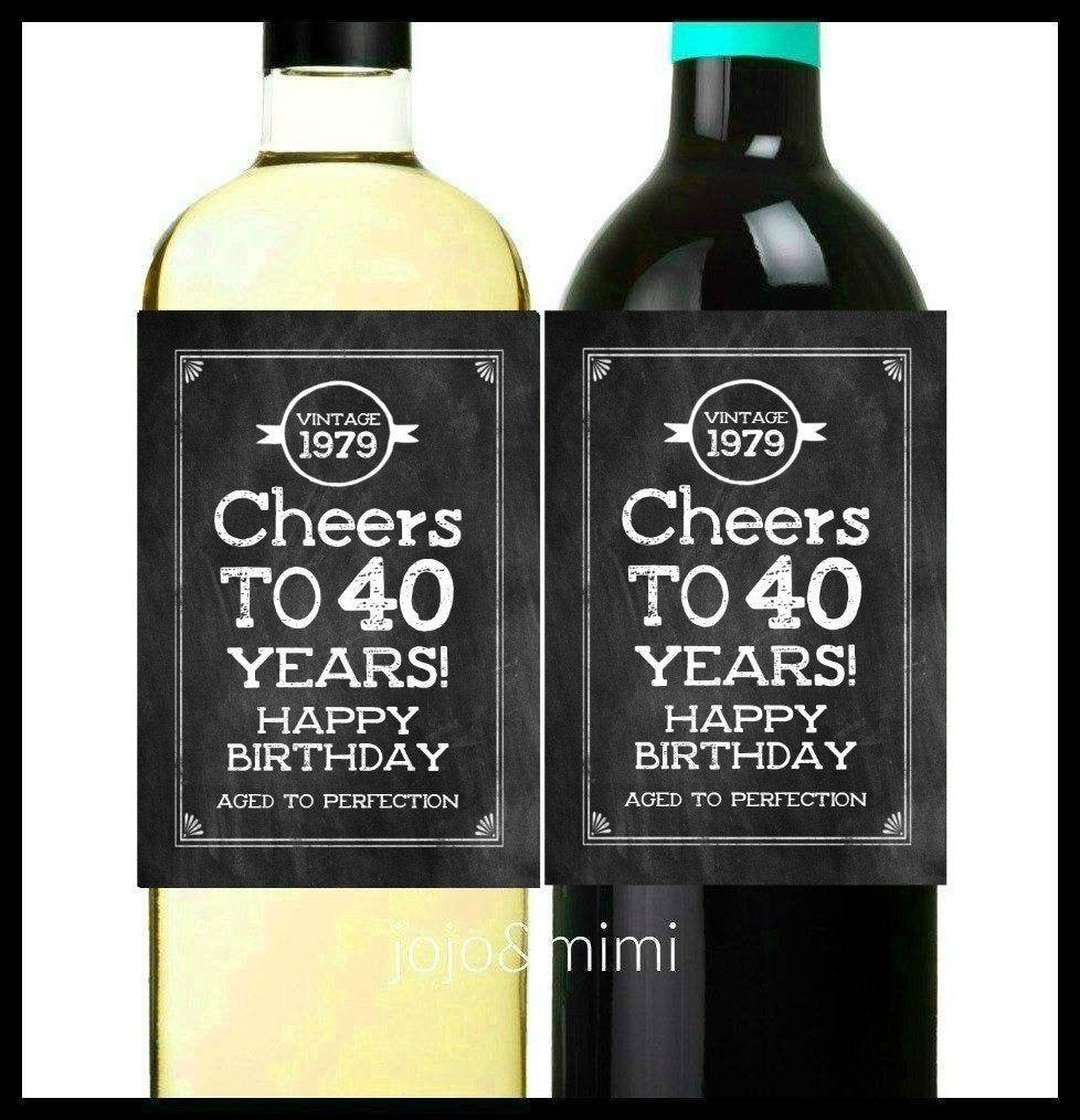 INSTANT 'Cheers to 40 Years' Happy Birthday Aged to