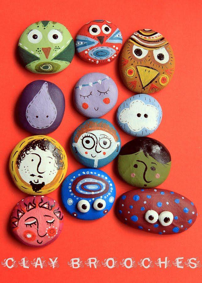 painting pebbles pattern idea