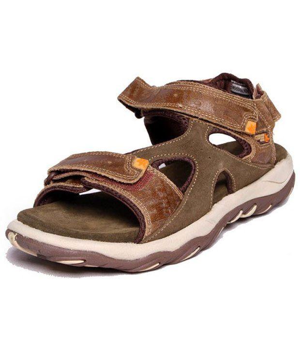 Woodland- Khaki Casual Sandals For Men