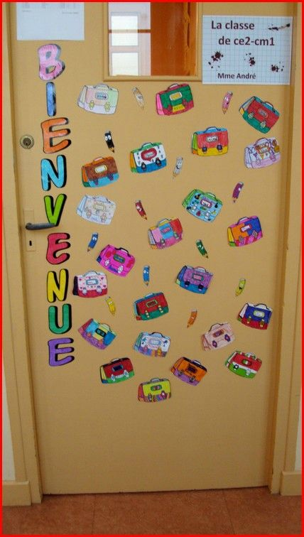 D co de porte rentr e des classes pour la classe for Decoration porte classe hiver
