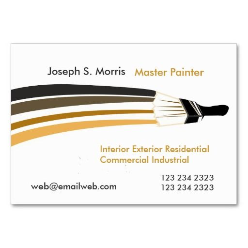 Bold Brushstrokes Professional House Painters Business Card Zazzle Com Painted Business Cards Painter Business Card Artist Business Cards