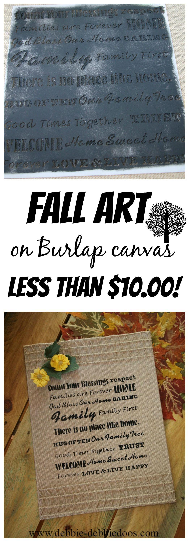 Burlap Canvas Kitchen Art Work Part 48