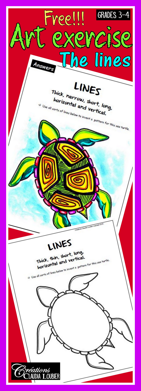 Free Art Exercise Lines Language Of Art Grades 3 4 Art
