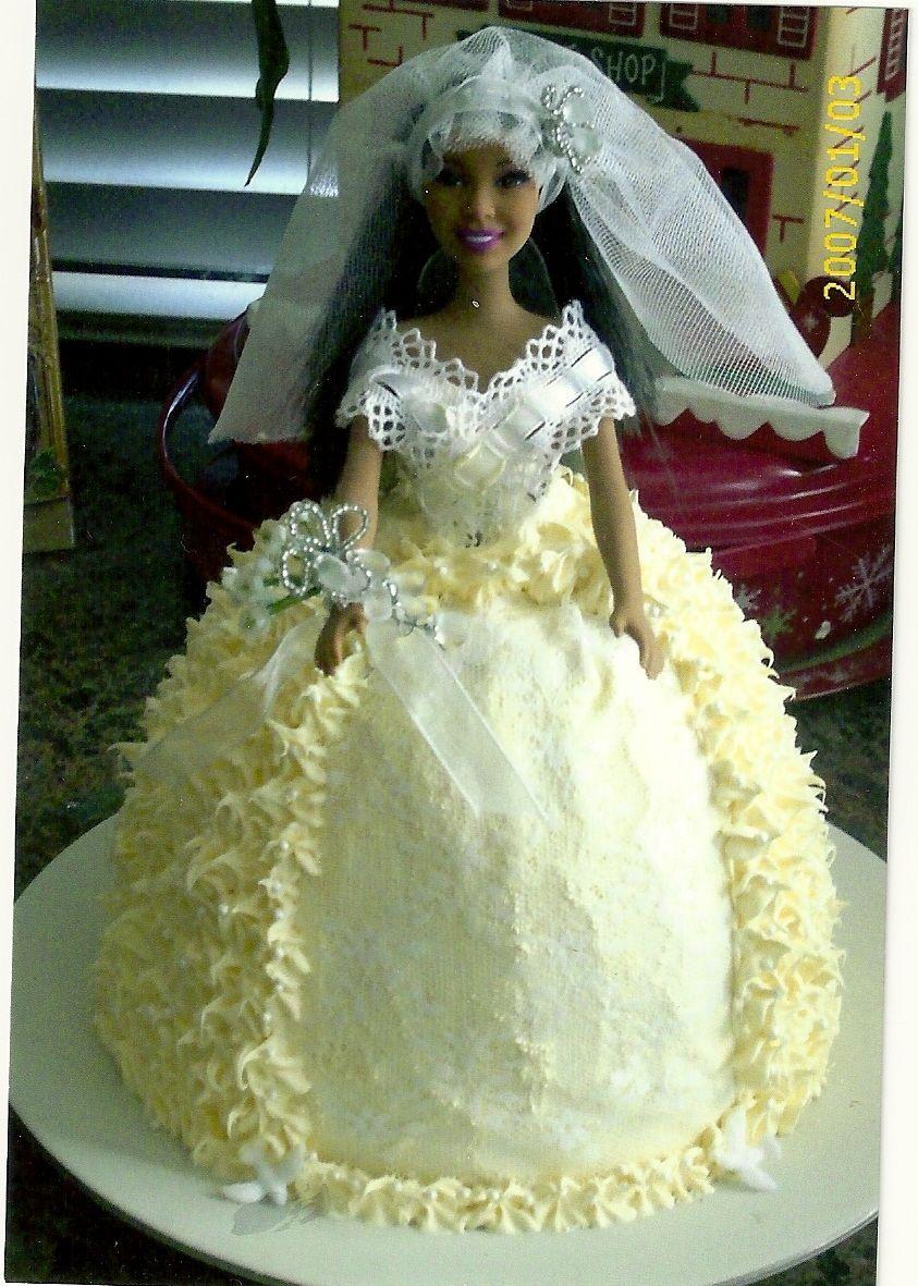 Barbie wedding cake barbie doll cakes barbie wedding