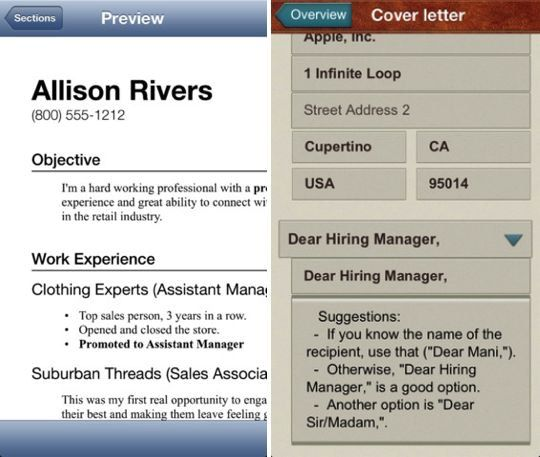 resume builder apps for job hunters weekly smartphone app android ...
