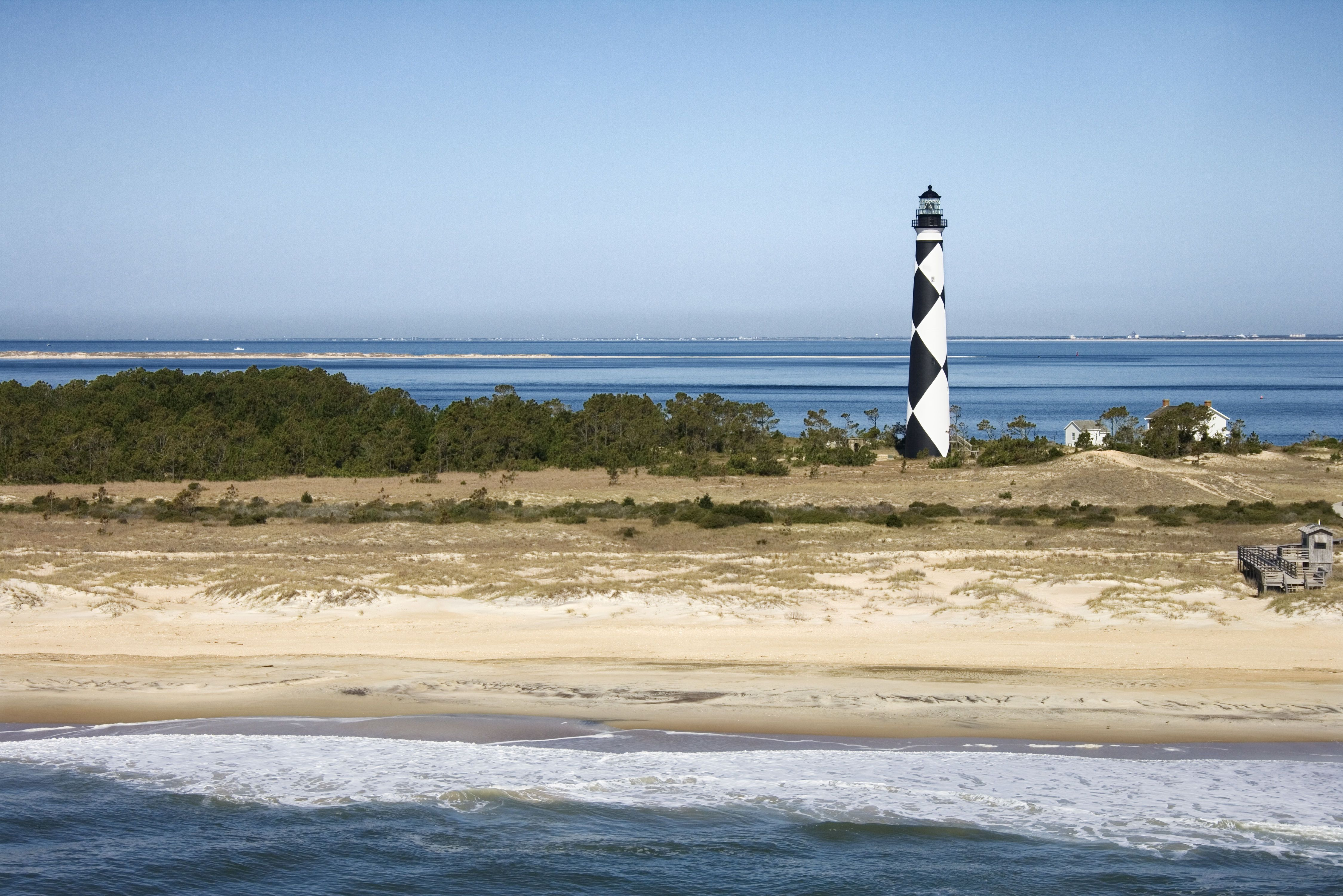 Cape Lookout Lighthouse Harkers Island North Carolina Beaches Harkers Island Road Trip Usa