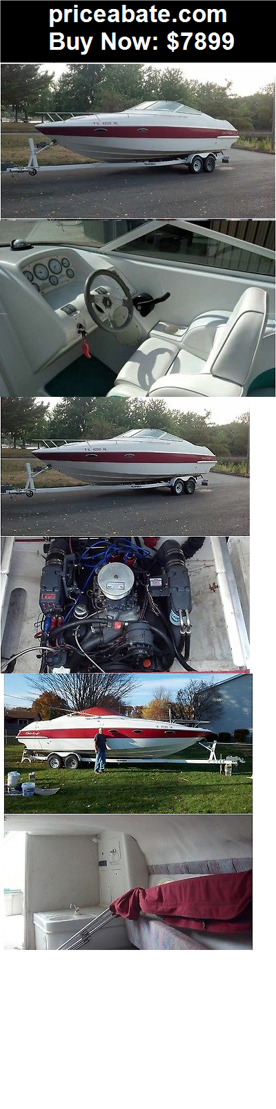 Boats: CHRIS CRAFT CONCEPT 258. Cuddy WITH DOUBLE AXEL TANDILUM TRAILER FRESH WATER - BUY IT NOW ONLY $7899
