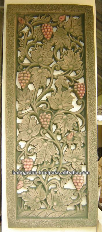 Decorative Wall Panel Sculpture Flower Relief For Wall Decor