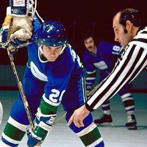 Bobby Lalonde with the Canucks.