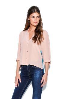 Camisa Seda Bicolor via http://e-store.animale.com.br
