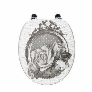 Abattant wc roses mathilde m salle de bains accessoires de for Accessoires salle de bain et wc