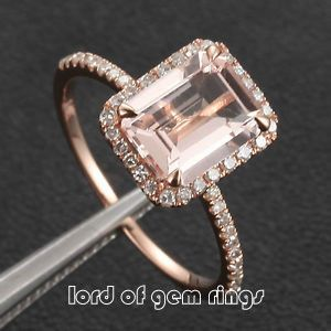 Morganite Engagement Ring Collection at Lord of Gem Rings