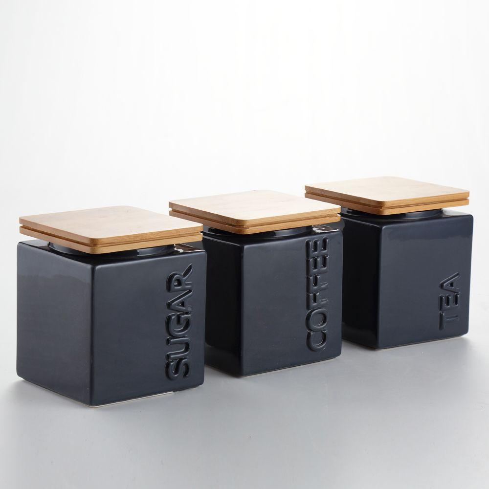 Typhoon Tea Coffee Sugar >> Tea Sugar Coffee Canisters - The Coffee Table
