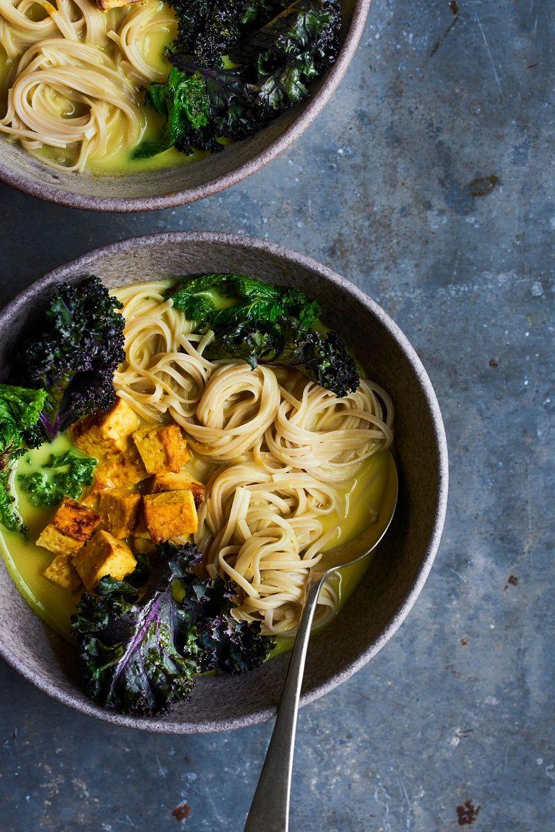 Almond Turmeric And Kale Miso Ramen Vegetarian Recipe Eat