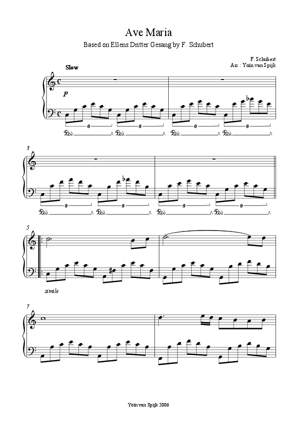 Piano ave maria sheet music piano : Ave Maria (Schubert) - Piano Solo | Sheet music | Pinterest ...