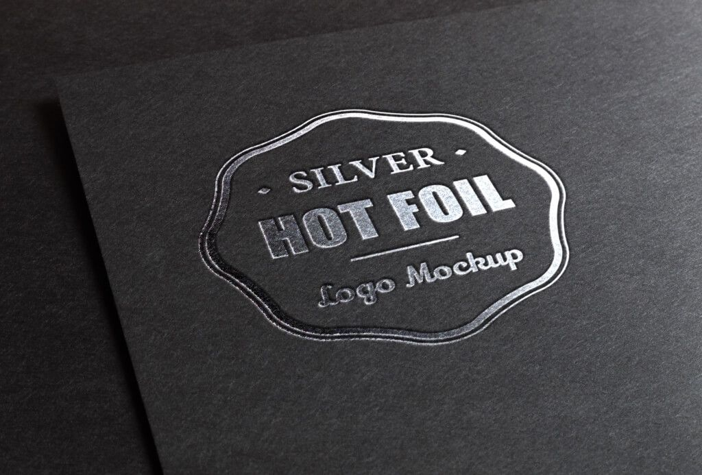 3D Silver Logo MockUp PSD Template Logo mockups psd