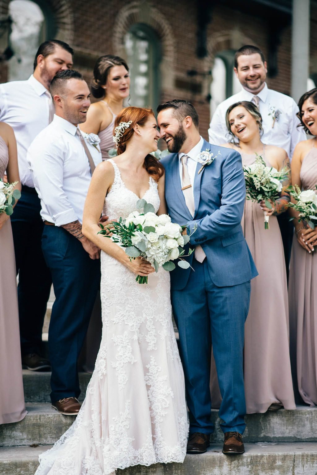 Taupe and Ivory Vintage Travel Inspired Tampa Heights Wedding