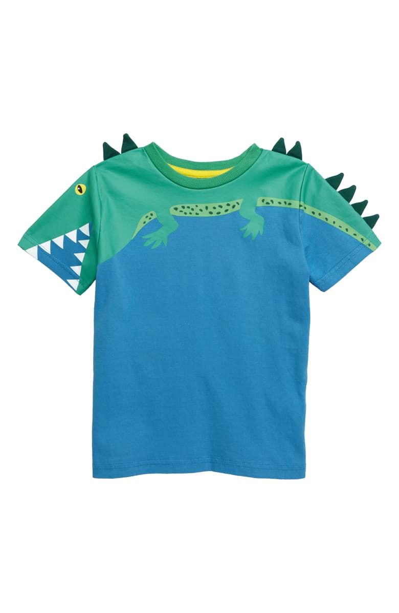 NEW MINI BODEN GIRLS SIZE 2-12 YEARS GREEN CROCODILE APPLIQUE T SHIRT TOP