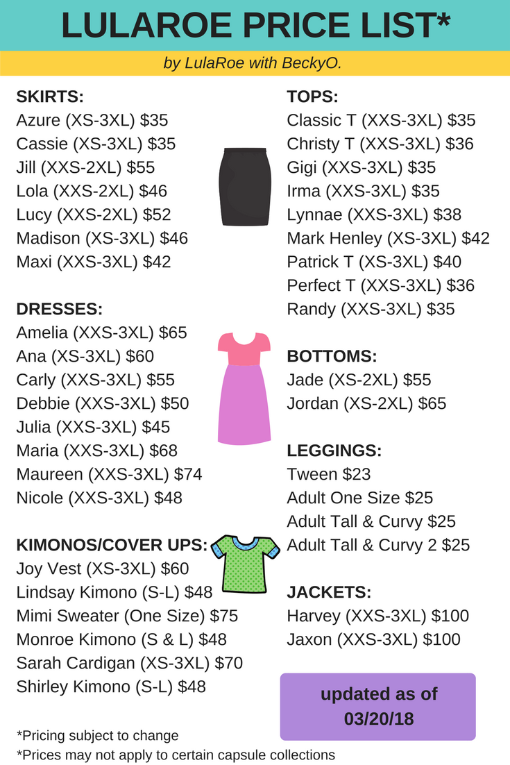 picture about Lularoe Price List Printable identify Pin as a result of LulaRoe with BeckyO upon lula rOe! within just 2019 Lularoe
