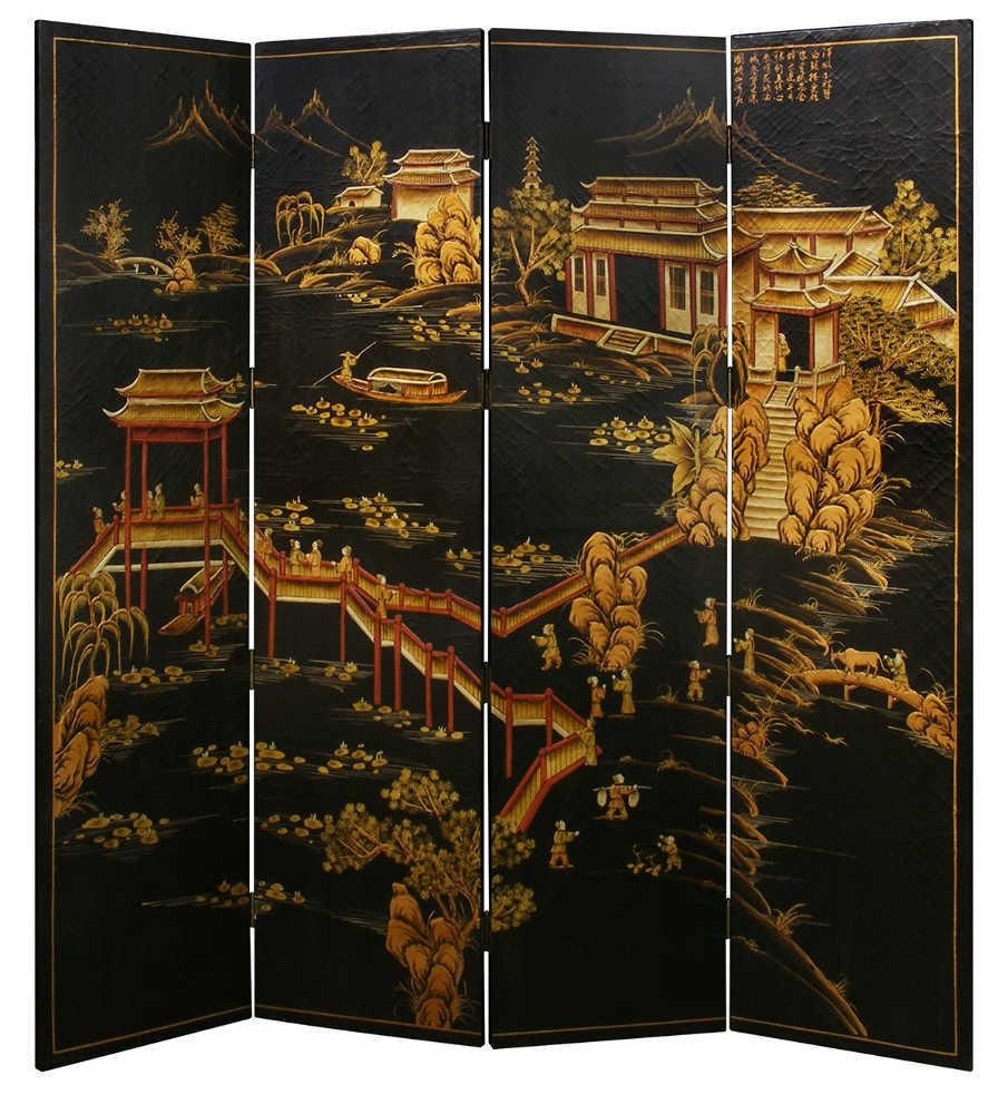 Chinoiserie Scenery Floor Screen   China Furniture U0026 Arts | Domino.com