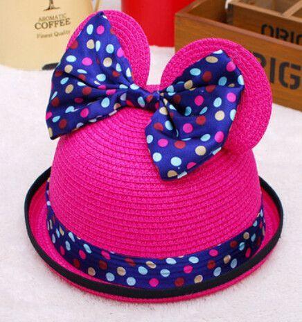 Polka Dot Bow Hat