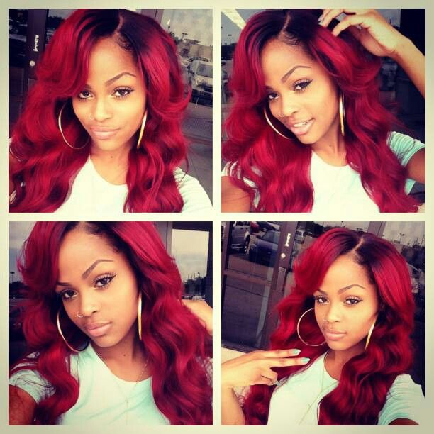The 25 Best Red Weave Ideas On Pinterest Red Hair Weave Red Weave Hairstyles And Blue Weave
