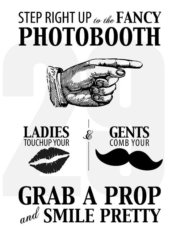 Photo Booth Sign Wedding Photo Booth Props Photo Booth Props