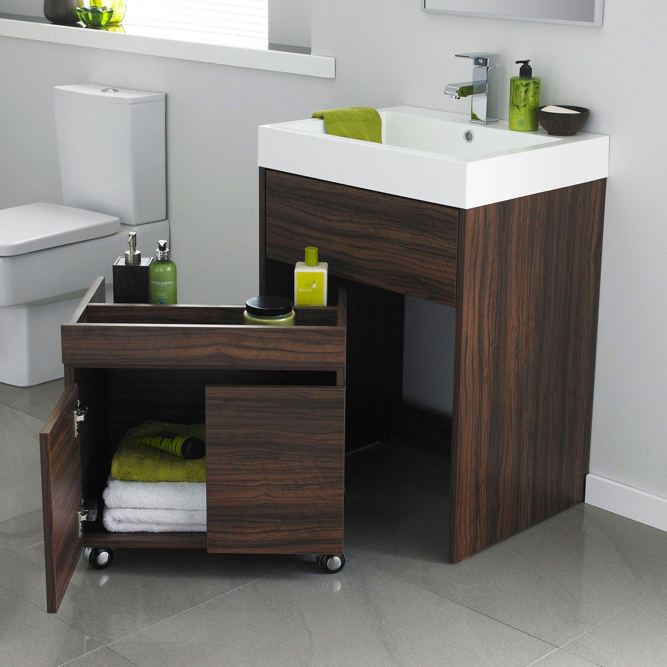 Superior Asmara 600mm Oak Floor Mounted Vanity Unit With Basin