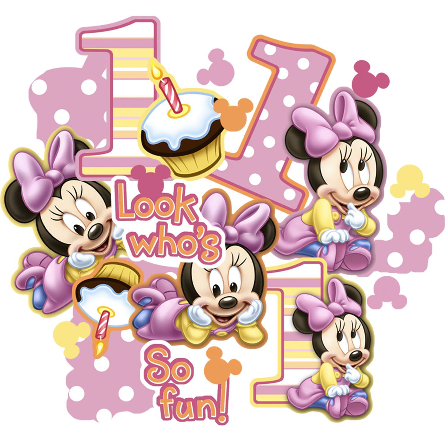 Minnie Mouse 1st Birthday Clipart Baby mickey mouse 1st birthday clip ...