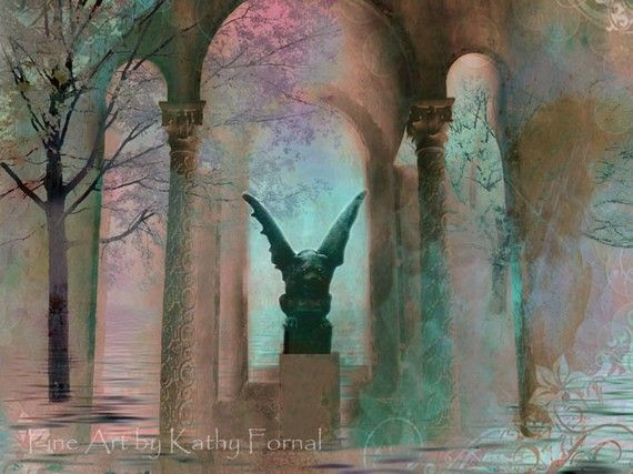 Gothic Photography  Surreal Fantasy Art   Dreamy by KathyFornal-My colors, again.