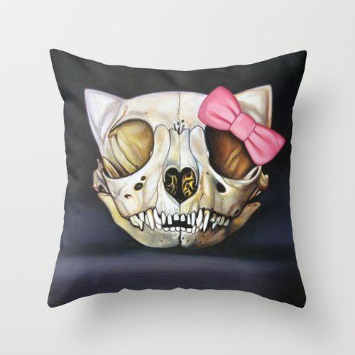 Goodbye Kitty pillow