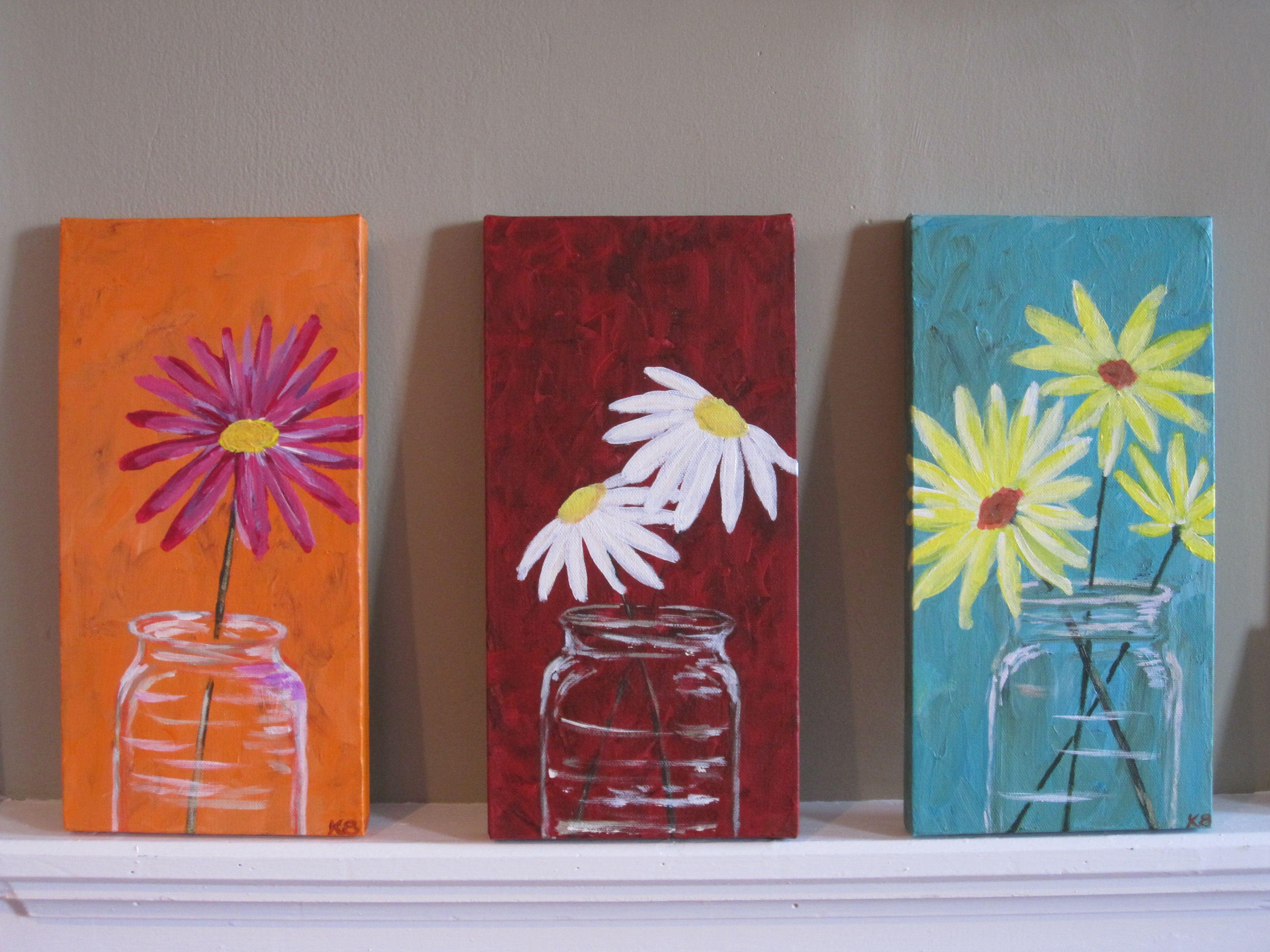 Mason jars | Canvas & Acrylic Ideas | Pinterest