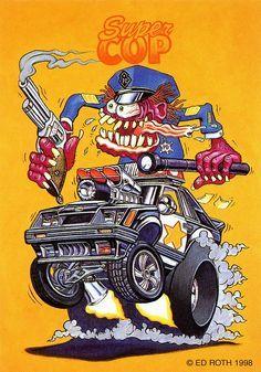 Ratfink Ed Big Daddy Roth Kustom Kulture Art Print POSTER Plakat