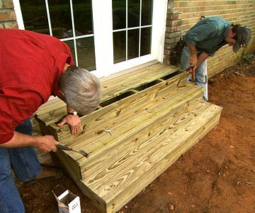 Build Wooden Exterior Steps Yard Diy Patio Steps Exterior
