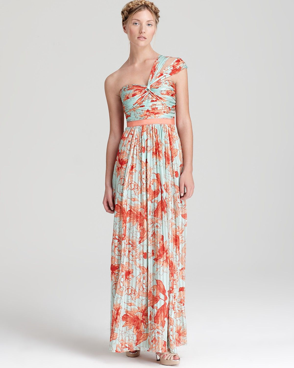 Bcbgmaxazria One Shoulder Gown Sweetheart Printed Women Dresses Bloomingdale S Gowns One Shoulder Gown Dresses [ 1500 x 1200 Pixel ]